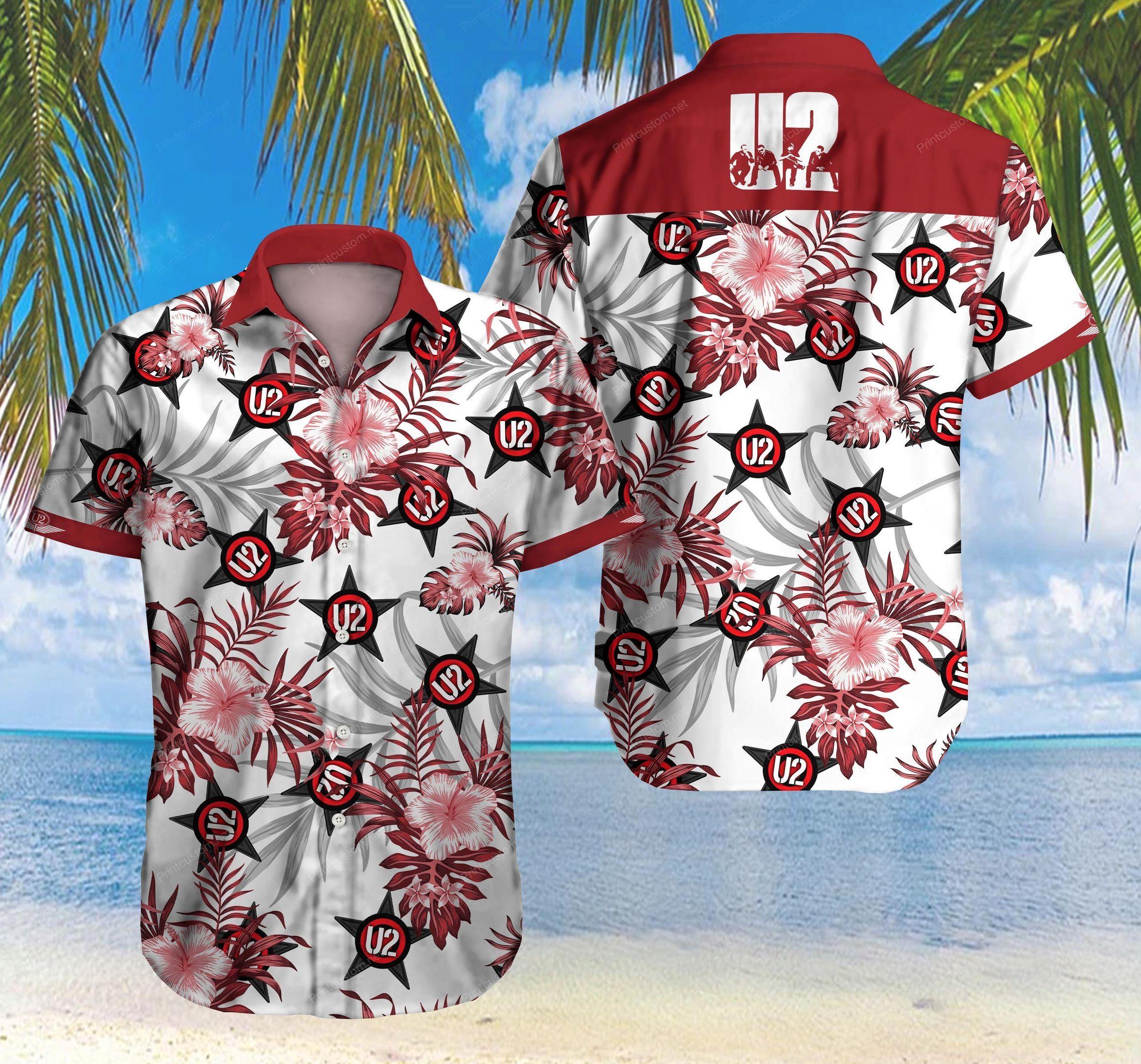 U2 rock band Hawaiian Shirt Summer Shirt