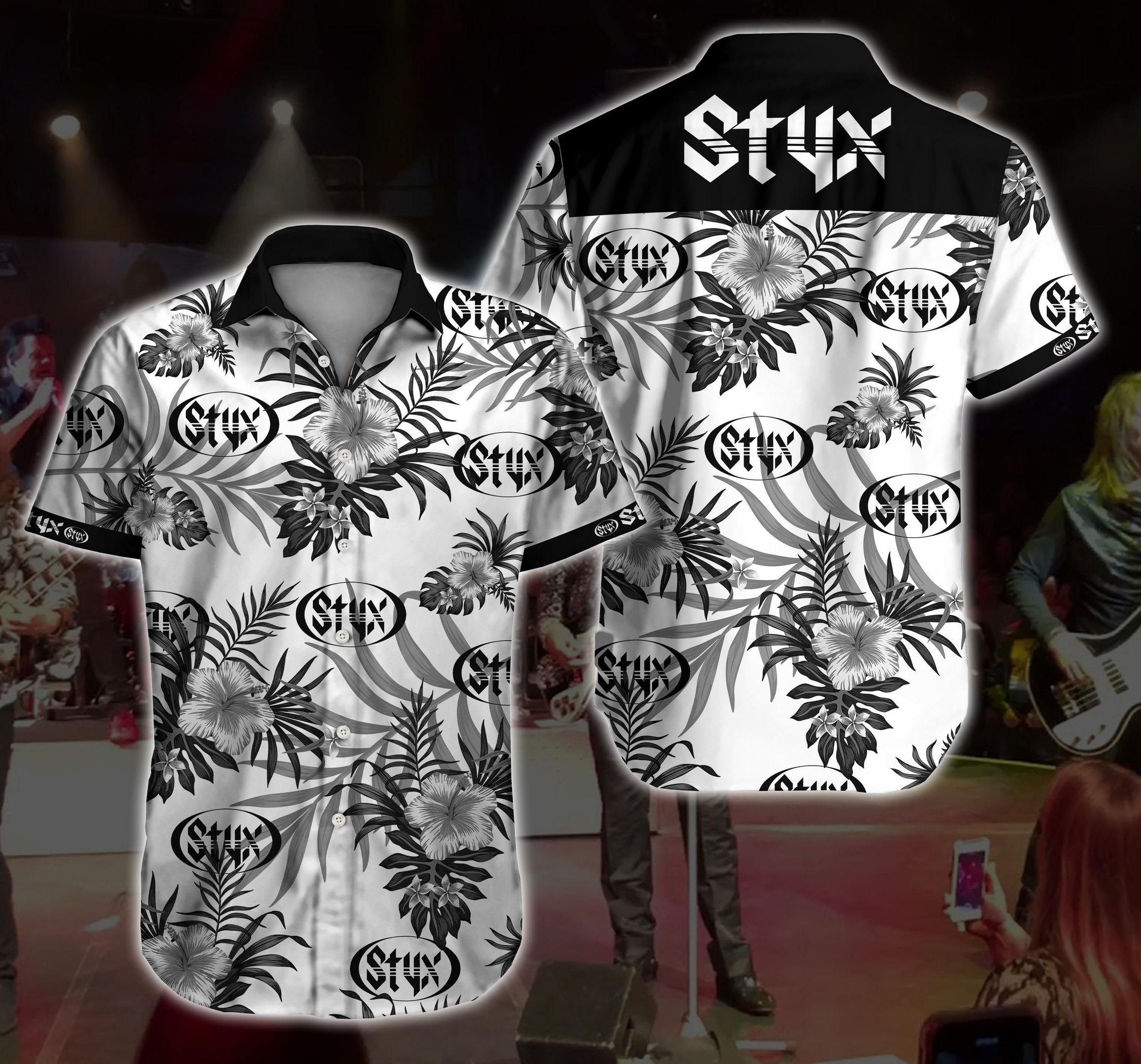 Styx rock floral Hawaiian Shirt Summer Shirt