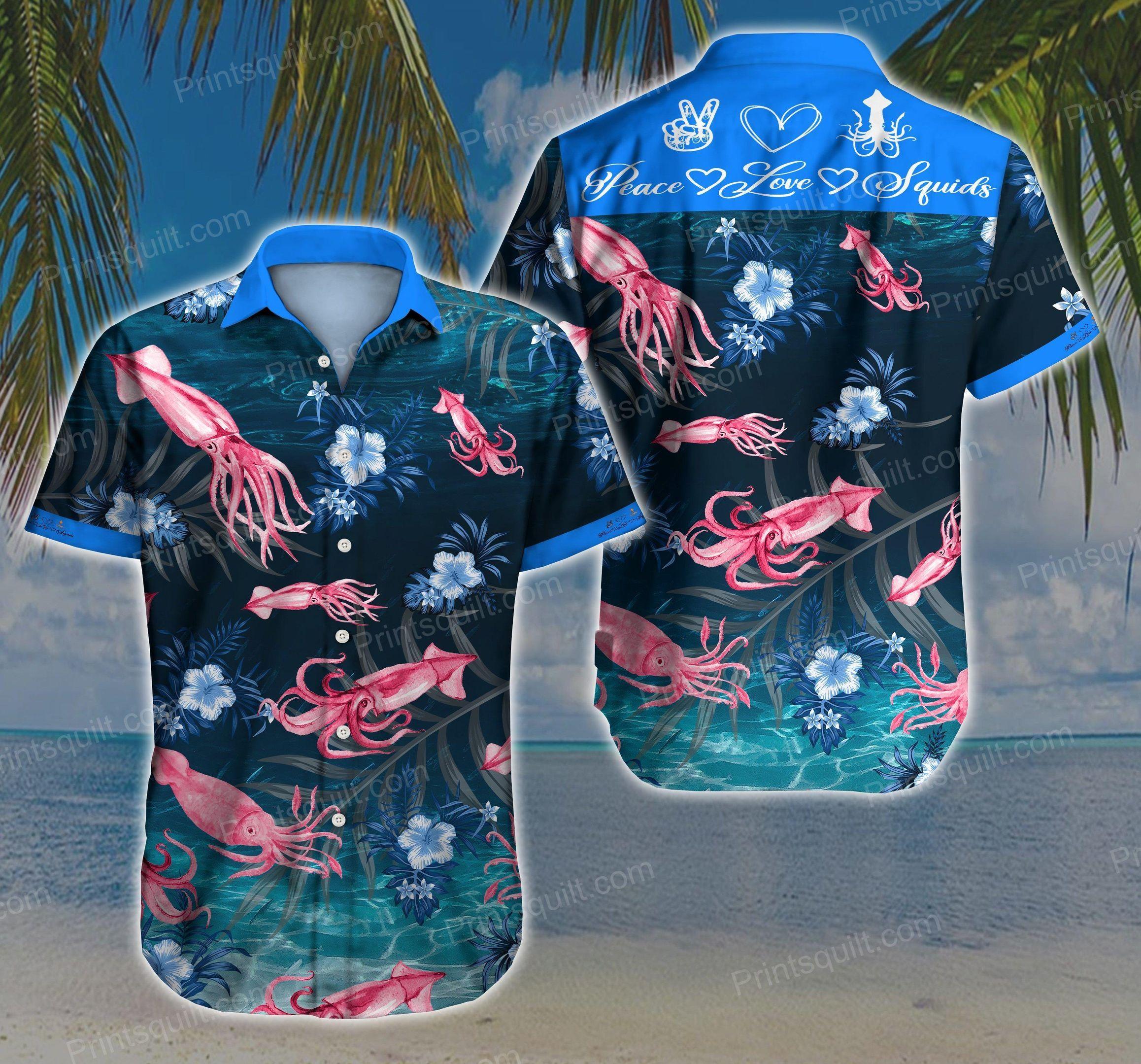 Squids Lovers 3d Hawaii Shirt V2