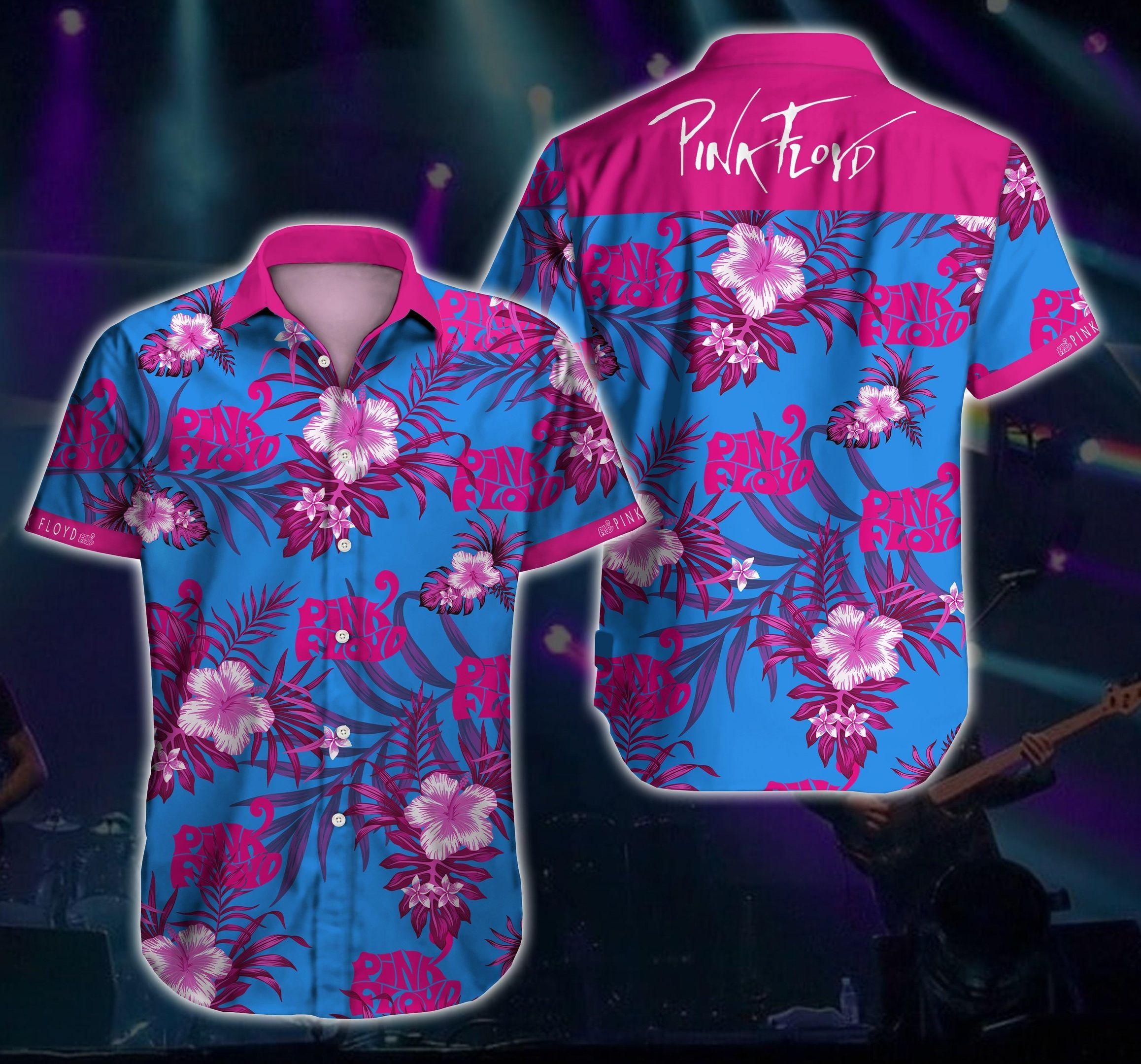 Pink Floyd Floral Hawaiian Shirt Summer Beach Shirt