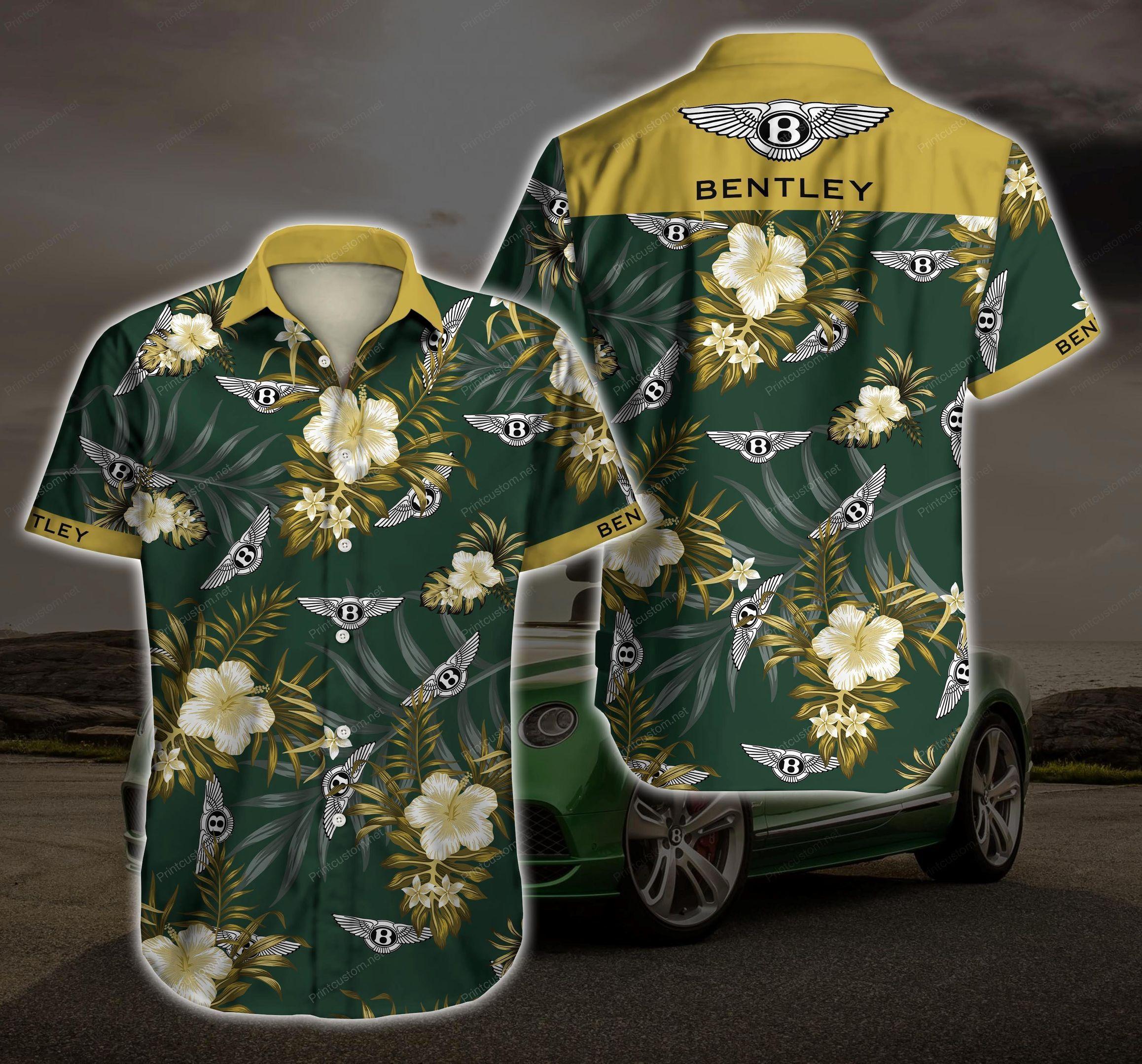 Bentley Logo Hawaiian Shirt Summer Shirt