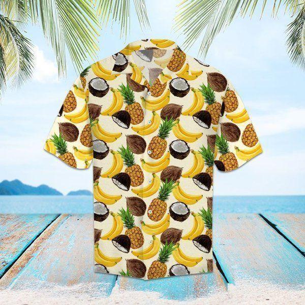 Tropical Fruits pineapple banana Hawaiian Shirt Summer Shirt