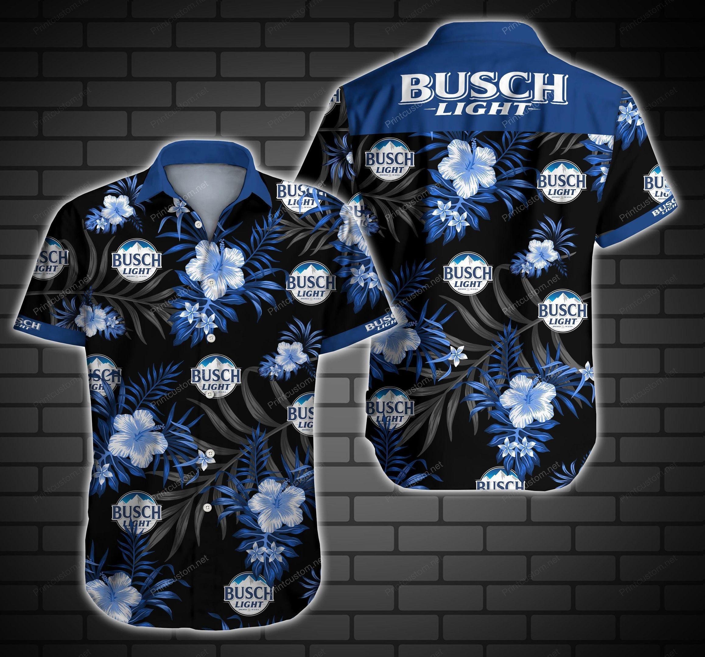 Busch Light Floral Hawaii Shirt Summer Shirt