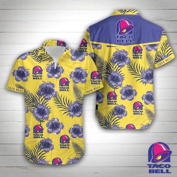 Taco Bell Floral Hawaiian Shirt Summer Shirt