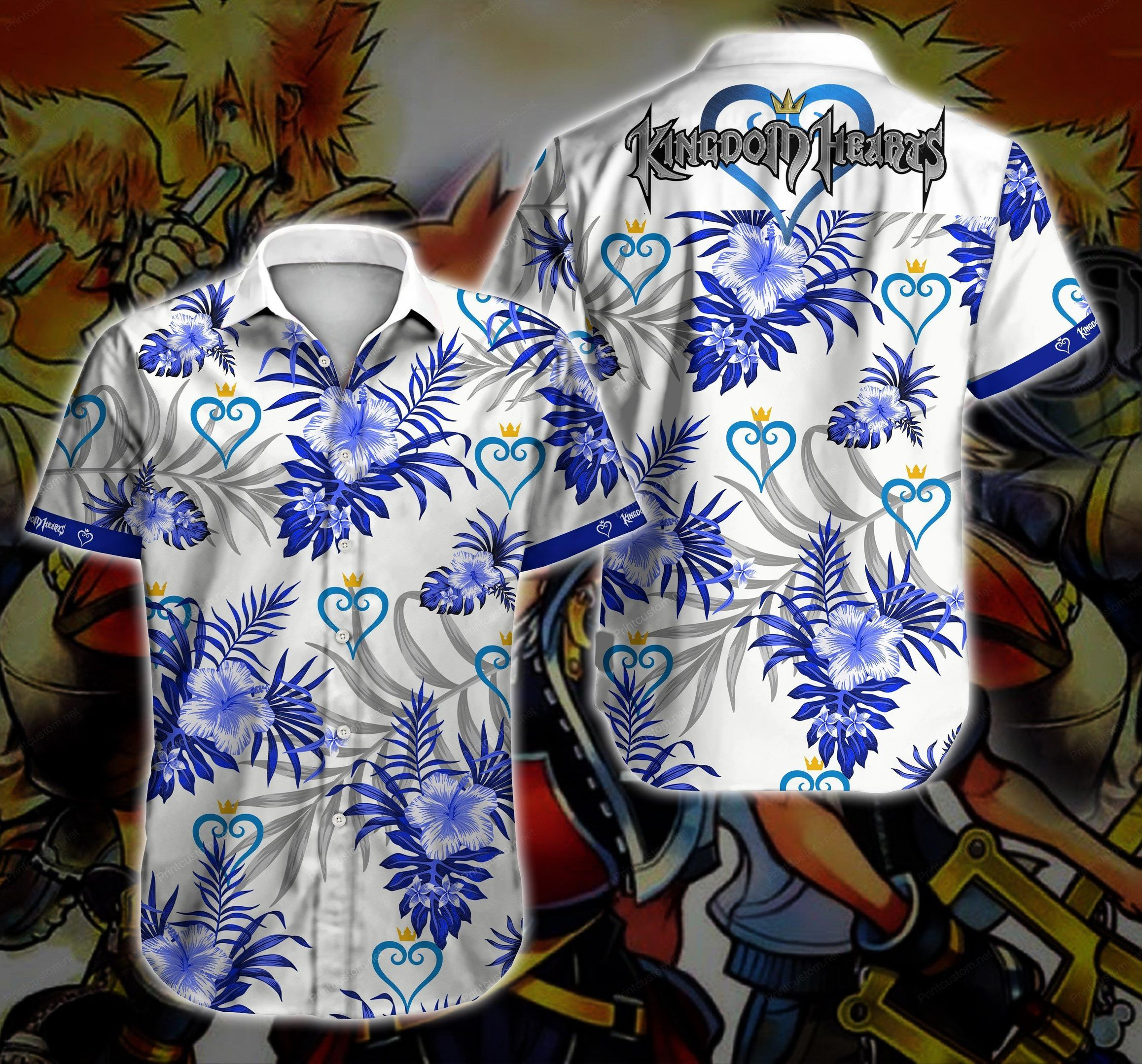 Kingdom Hearts Hawaiian Shirt Summer Shirt