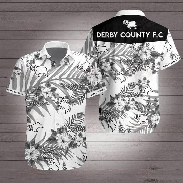 Derby county Premier League football Hawaiian Shirt Summer Shirt