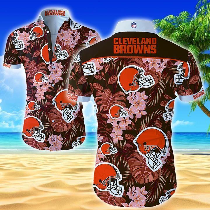 NFL Cleveland Browns Tropical Forest Hawaiian Shirt