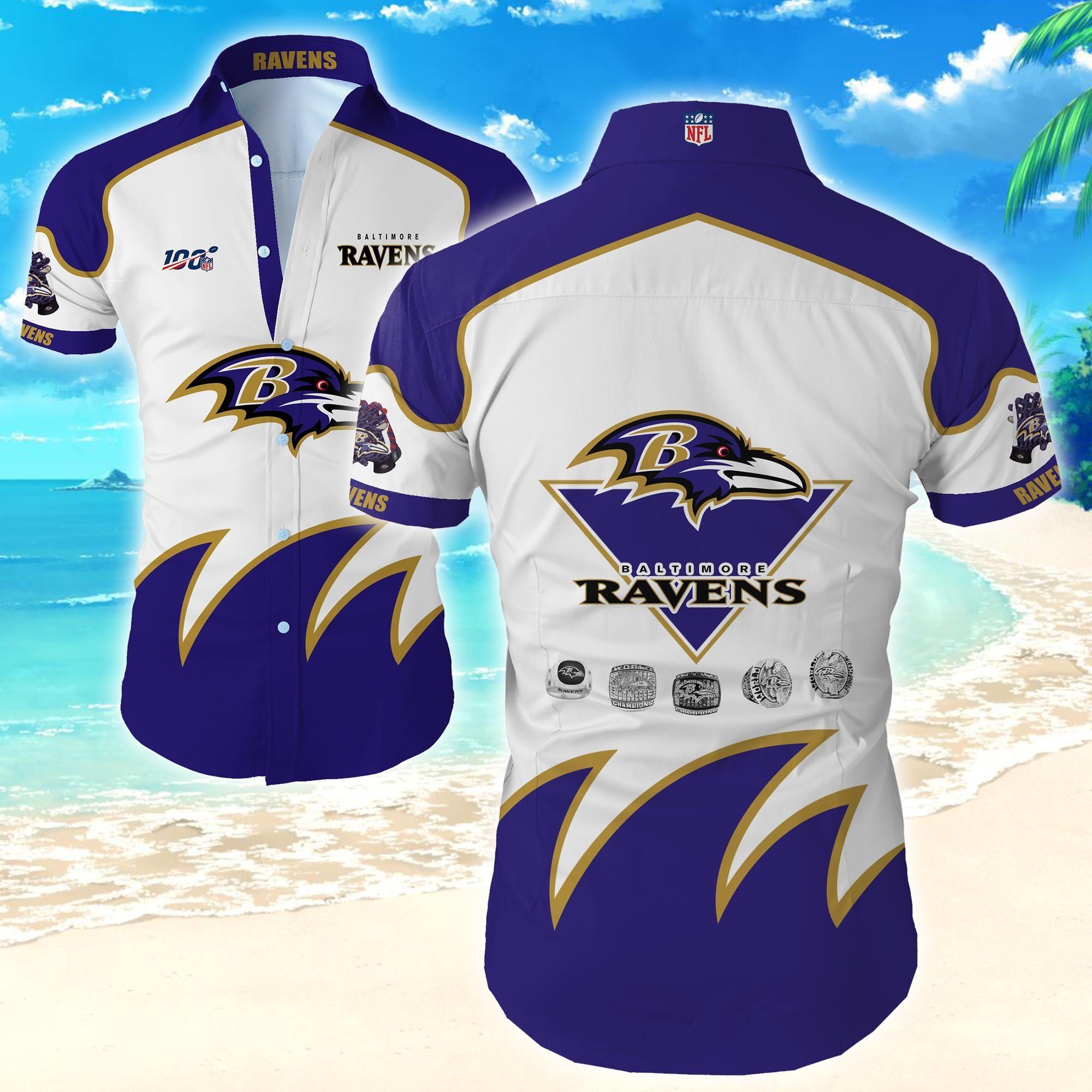 Nfl Baltimore Ravens Hawaiian Shirt Tropical Shirt