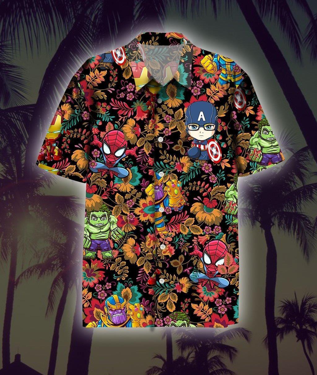 Marvel Superheros Hawaii Shirt Summer