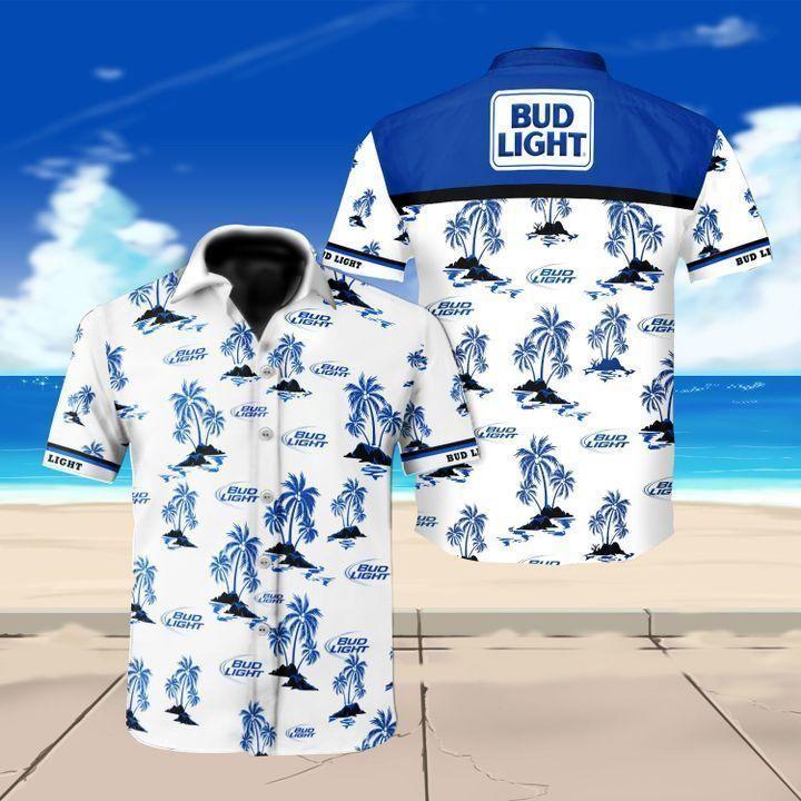 Bud Light beer Hawaiian Shirt Summer Shirt
