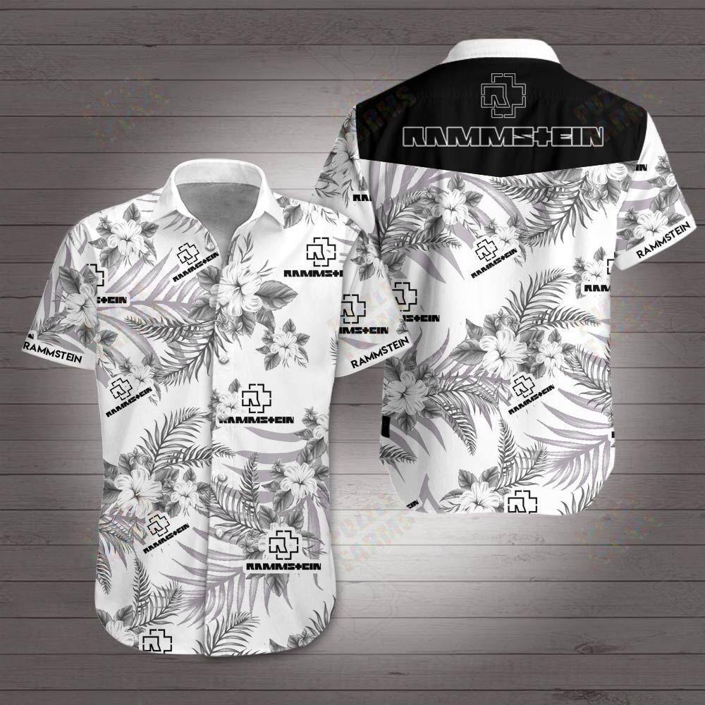Rammstein Logo Hawaiian Shirt Summer Shirt