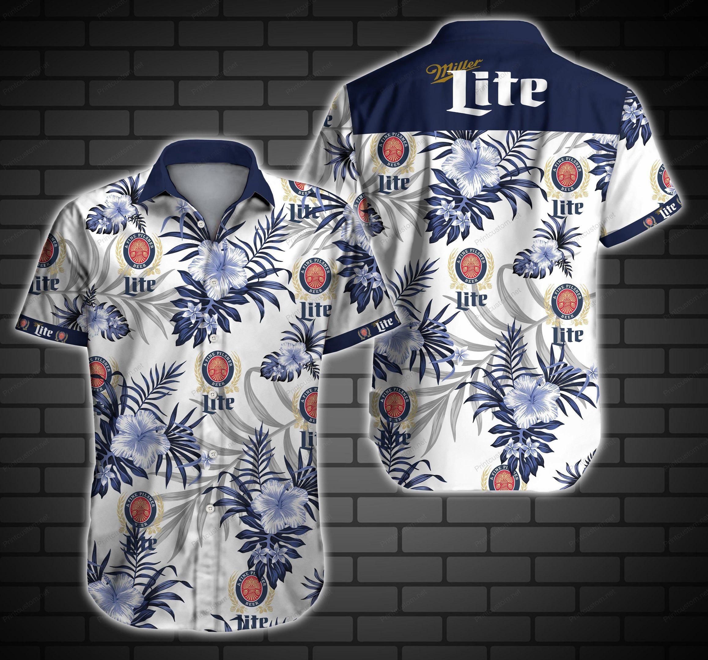 Miller Lite Hawaiian Shirt Summer Shirt