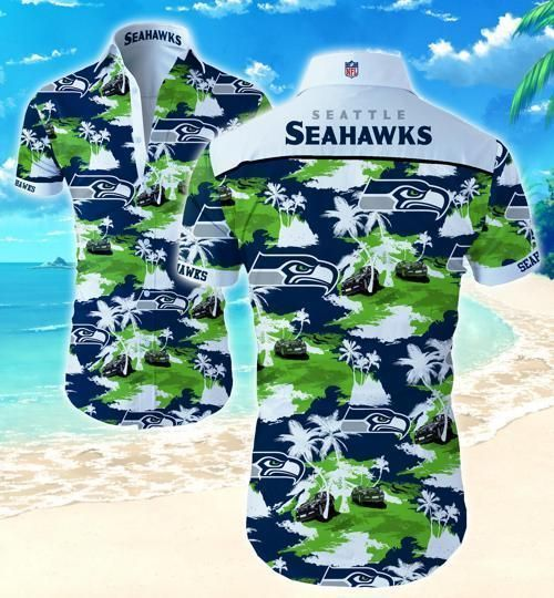 Seattle Seahawks Coconut Tree Hawaii Fit Body Shirt