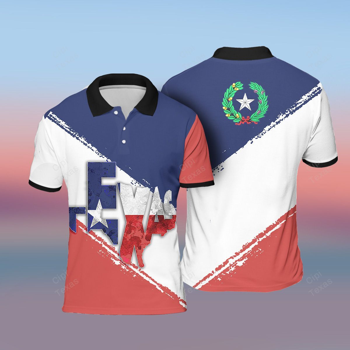 Texas Flag Polo Shirt