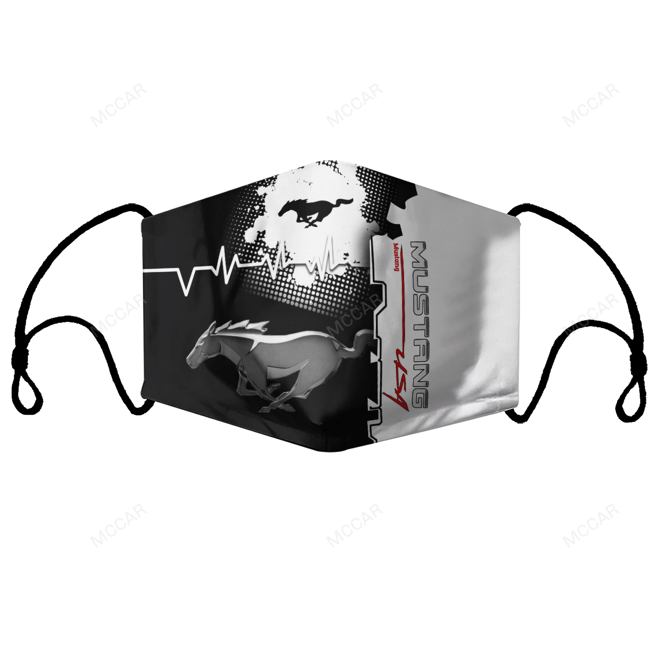 Ford Mustang Fabric Stretch to Fit face mask