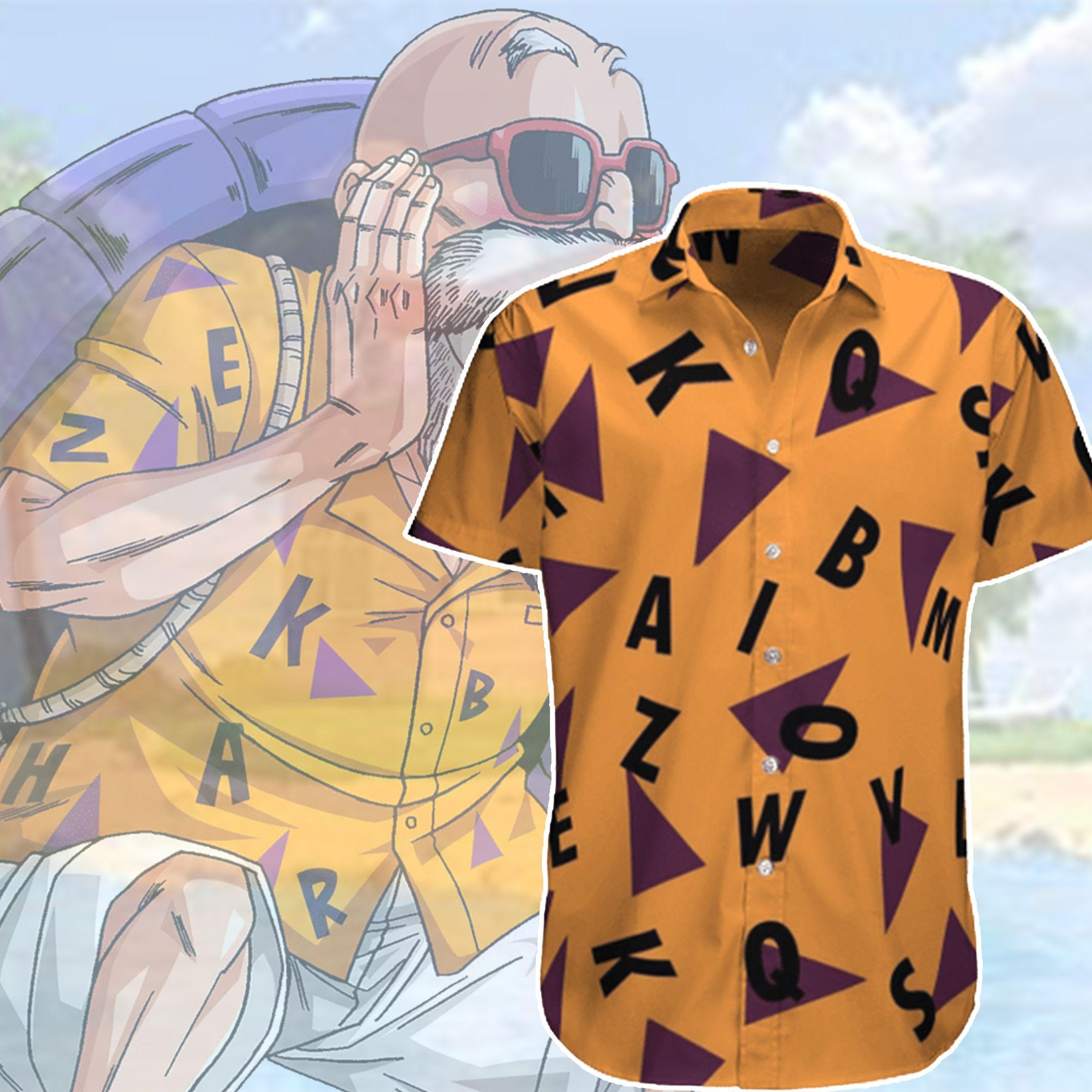 Dragon Ball Master Roshi Pattern Hawaiian Shirt