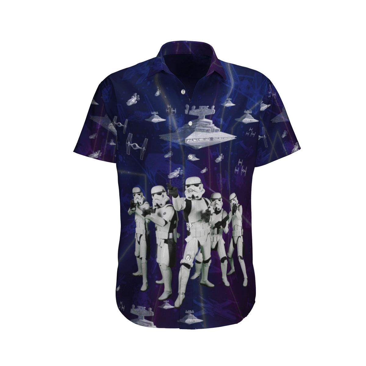 Star wars 5 Stormtroopers Spaceship Hawaiian Shirt