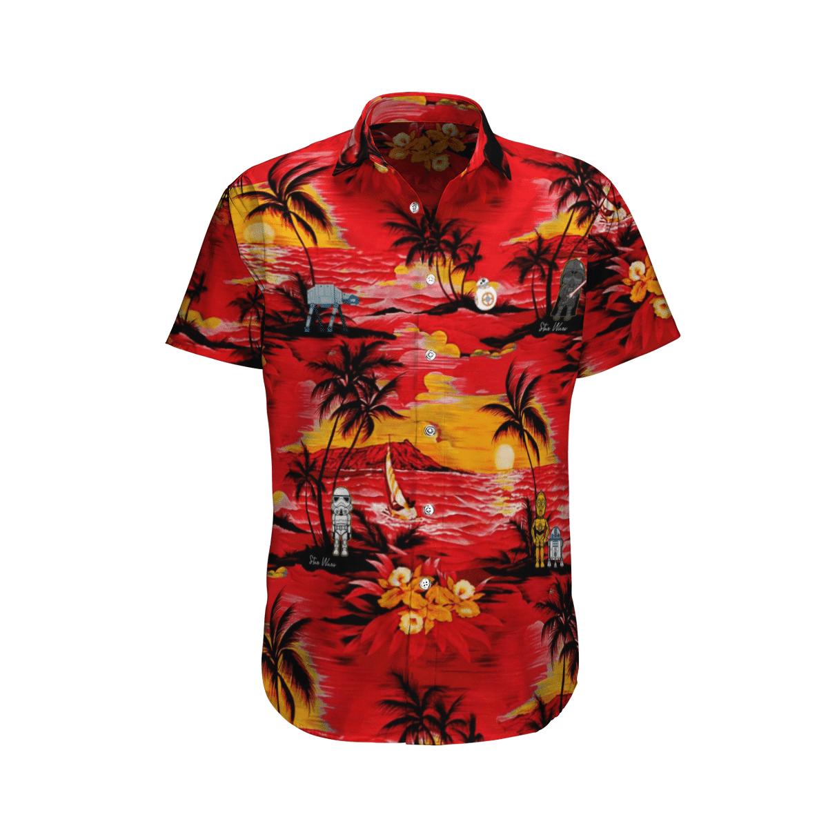 Star wars Sunset Ocean Island Hawaiian Shirt