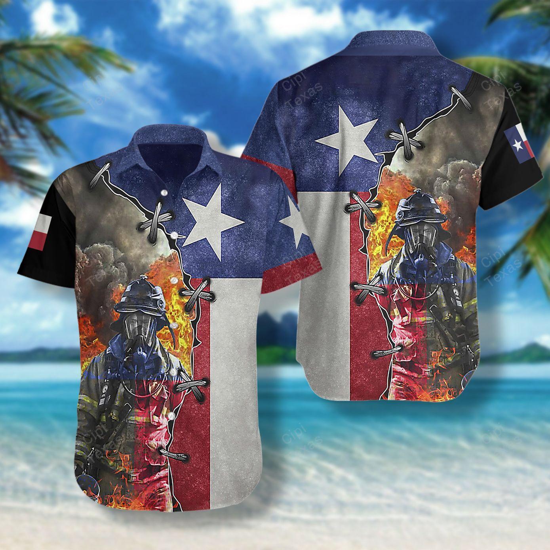 Firefighter Texas Hawaii Shirt