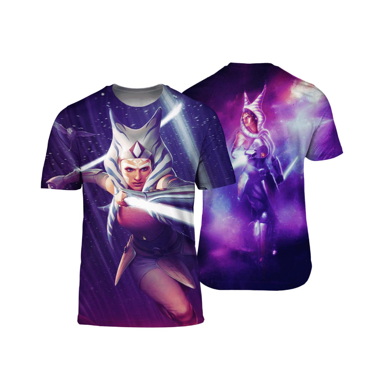 Star War Ahsoka Tano 3D T Shirt