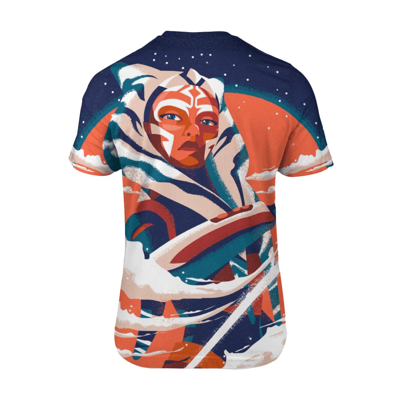 Star War Ahsoka Tano Art 3D T Shirt