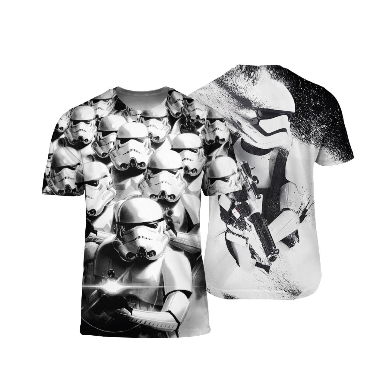 Stormtroopers Star Wars black and white 3D T Shirt