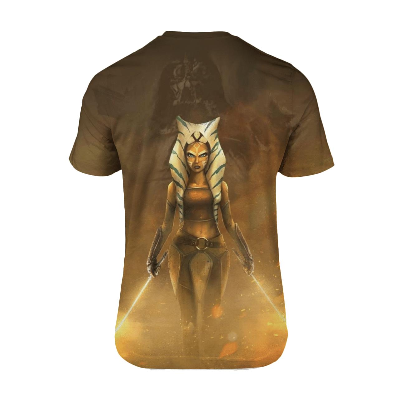 Ahsoka Tano Golden Light 3D Star War 3D T Shirt