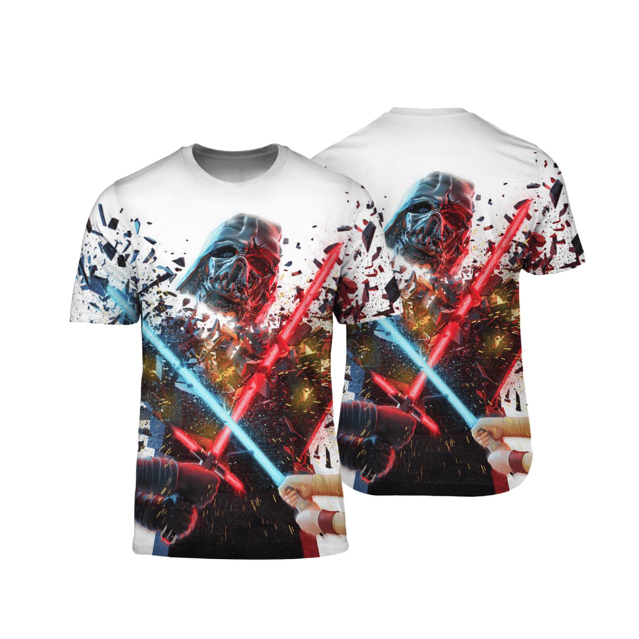 Darth Vader In End 3D Print T-shirt