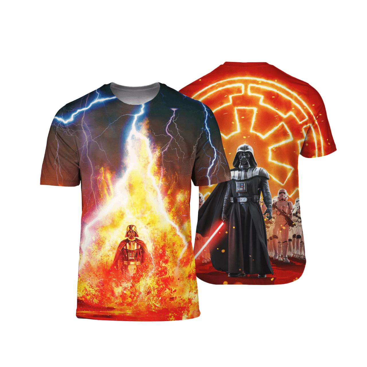 Darth Vader Fire and Thunder Star Wars 3D Shirt