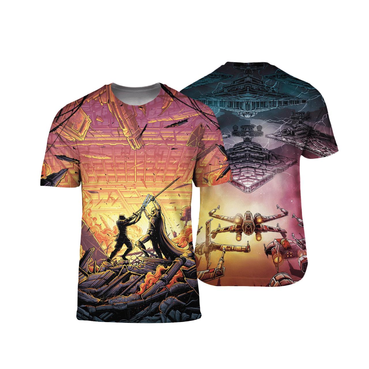 Star Wars Battles 3D T Shirt