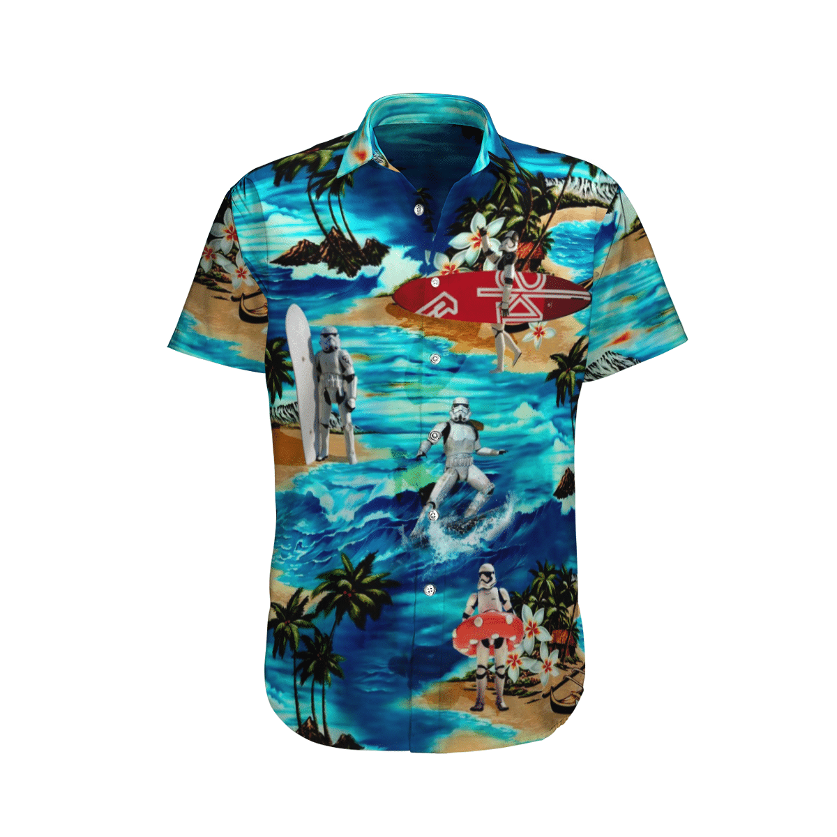 Star wars Stormtrooper Surfing Hawaiian Shirt