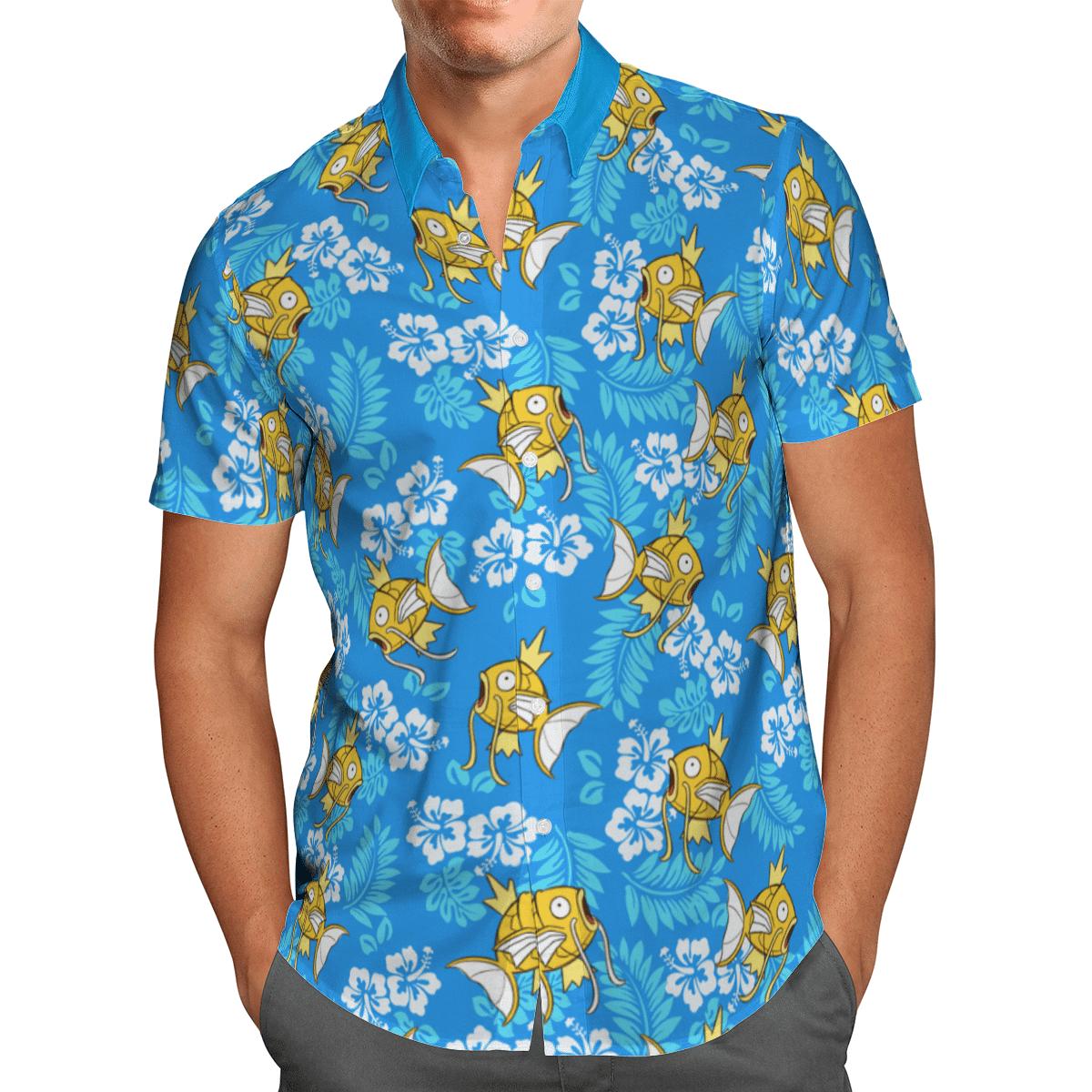 Pokemon Magikarp Koiking Tropical Beach Hawaiian Shirt And Shorts