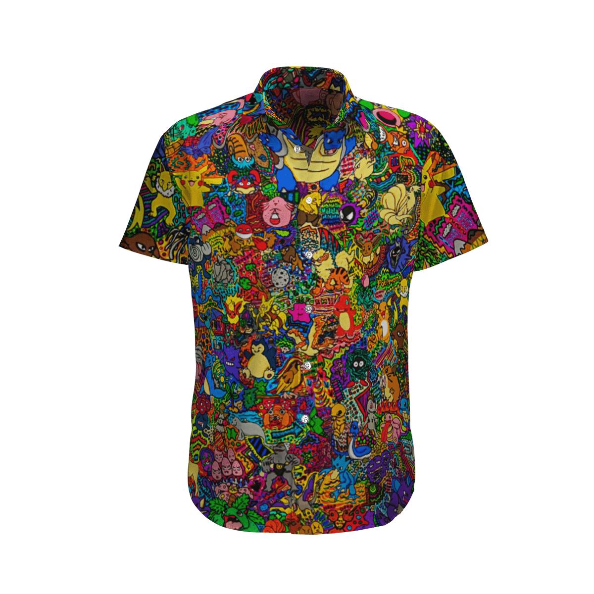 Happy Pokemon Hawaiian Shirt And Shorts