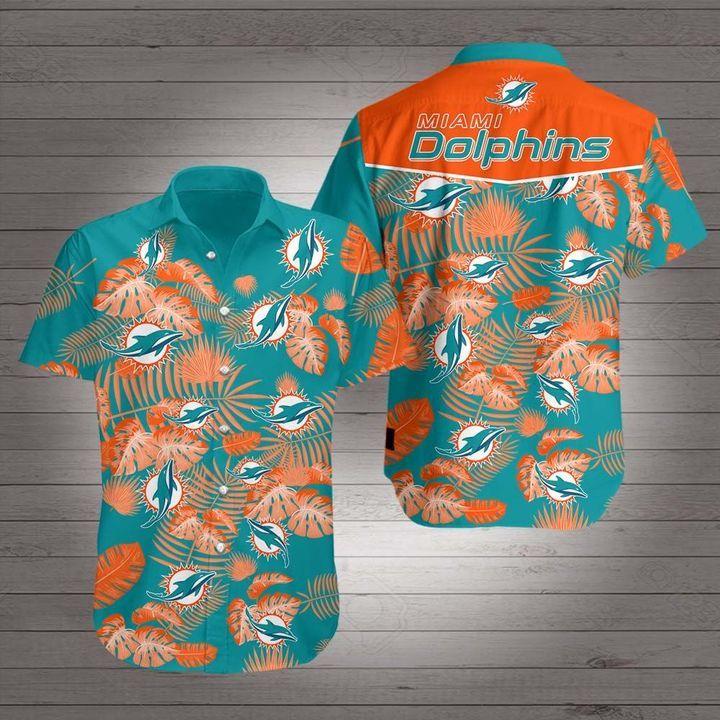 National Football League Miami Dolphins Hawaiian Shirt