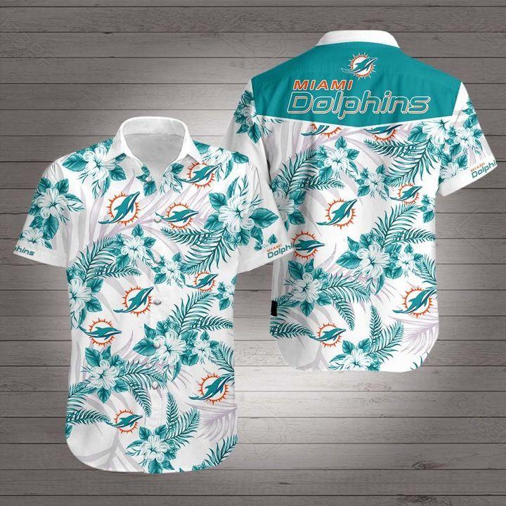 NFL Miami Dolphins Floral Hawaiian Shirt
