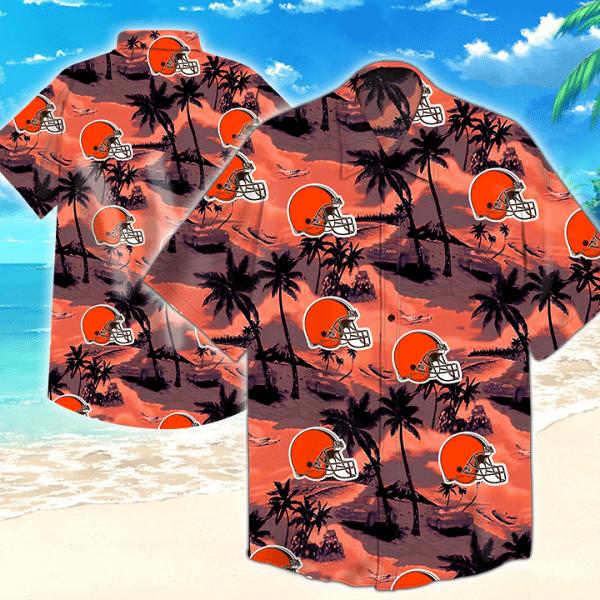 Cleveland Browns Nfl Beach Island Hawaiian Shirt