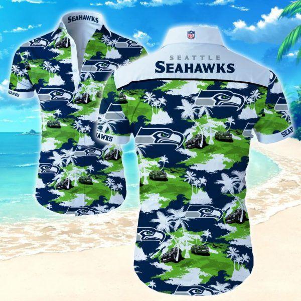 Nfl Seattle Seahawks car island Hawaiian Shirt Summer Shirt