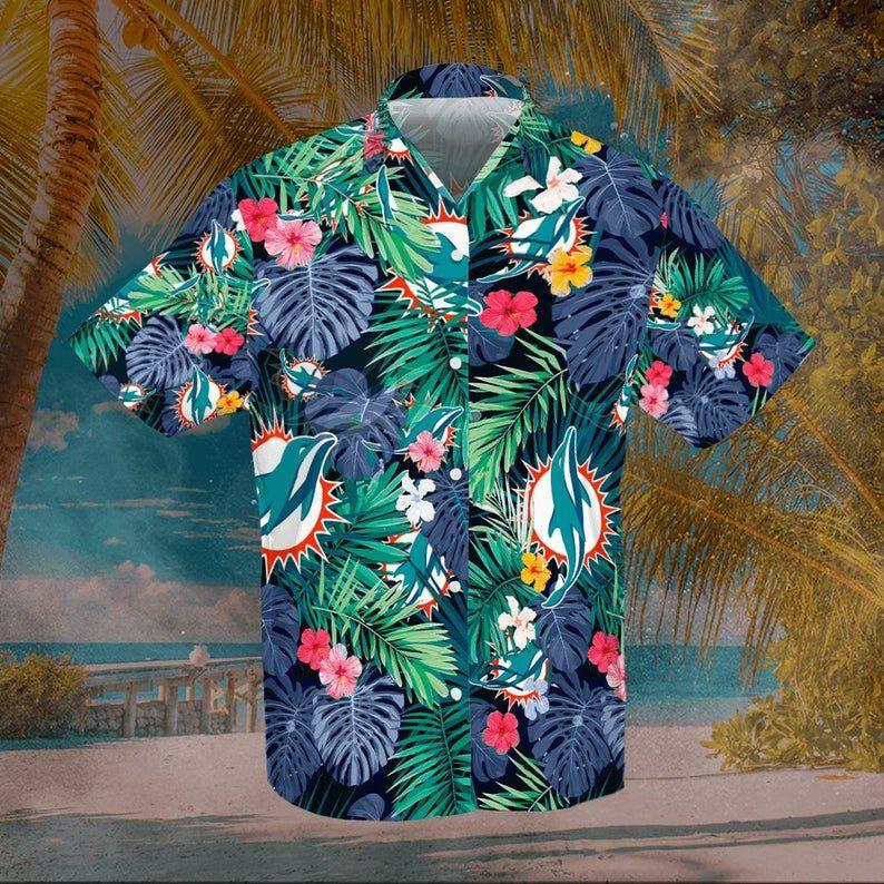 Miami Dolphins tropical Forest Hawaiian Shirt