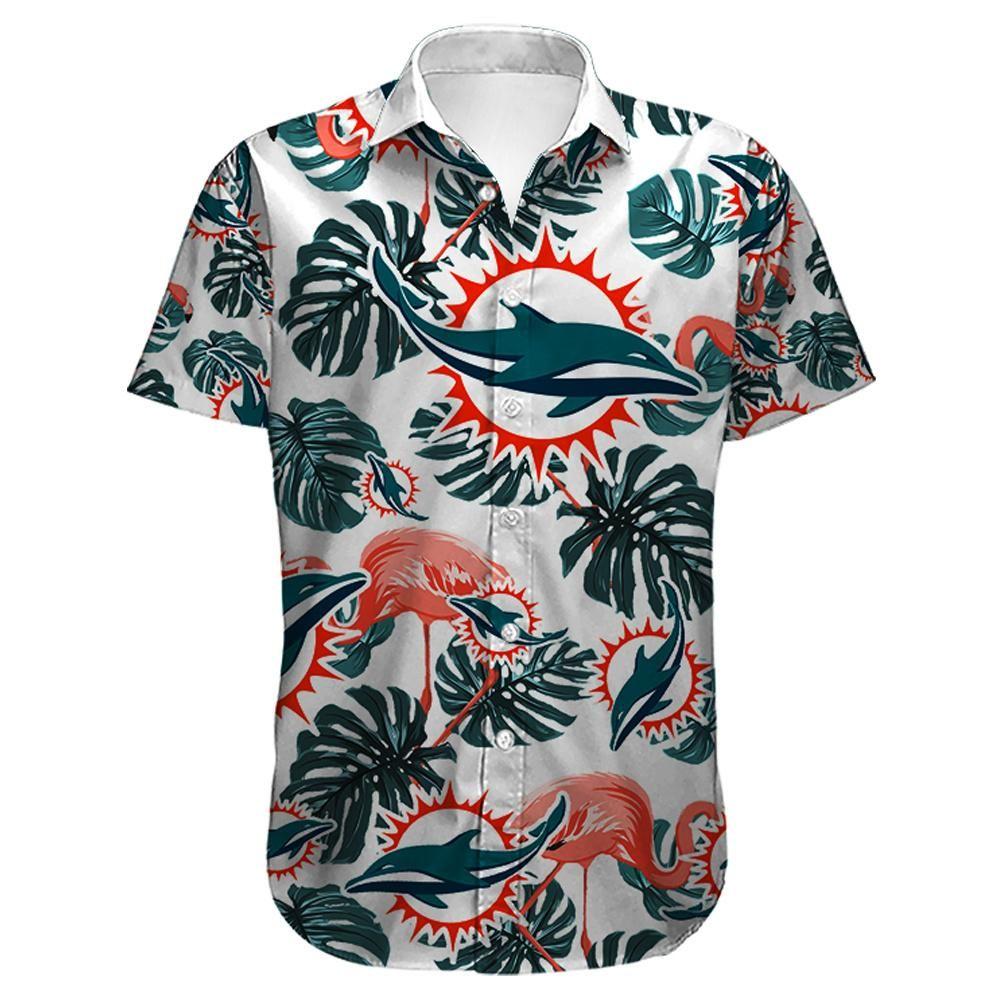 NFL Miami Dolphins Flamingo Hawaiian Shirt Summer Shirt