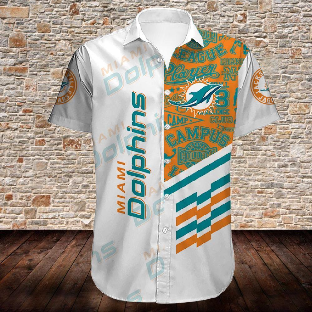 Miami Dolphins NFL white version Hawaiian Shirt