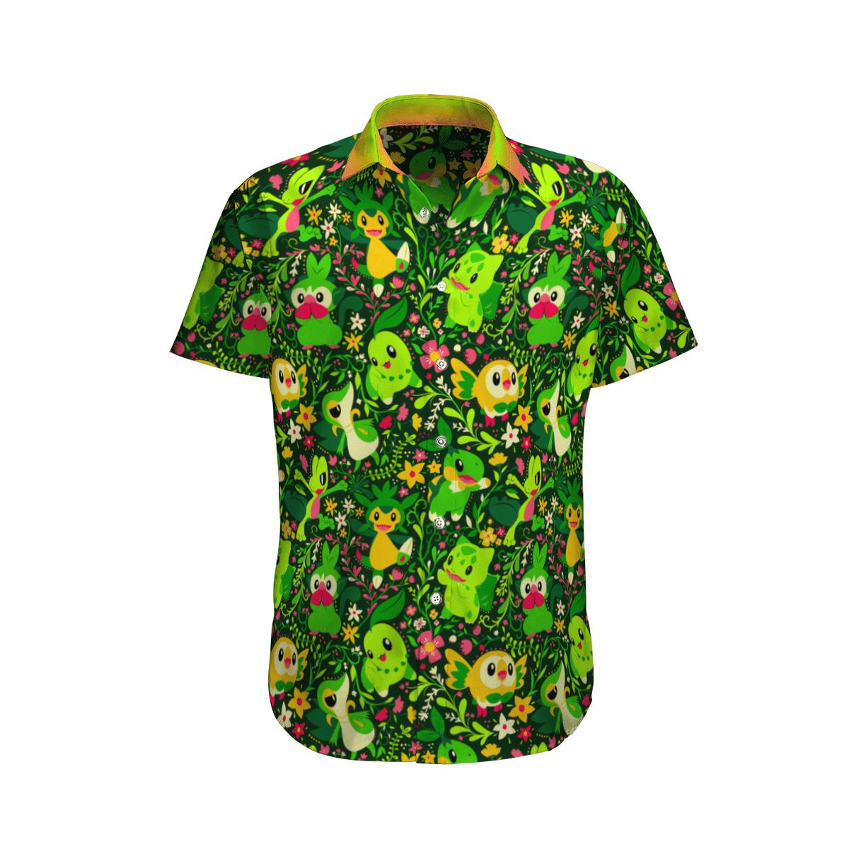 Grass Pokemon Hawaiian Shirt And Shorts