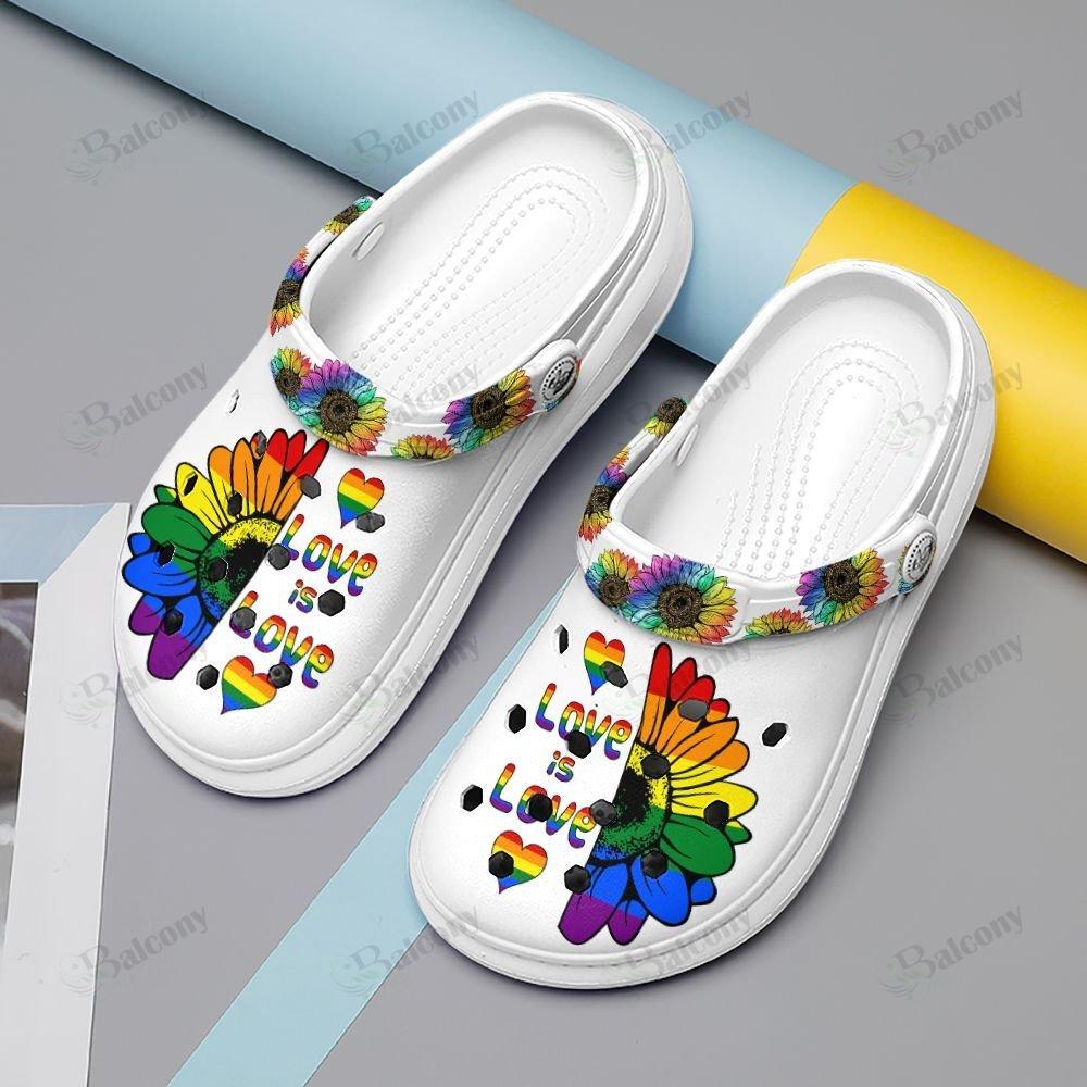 LGBT Love is love Clog Crocs