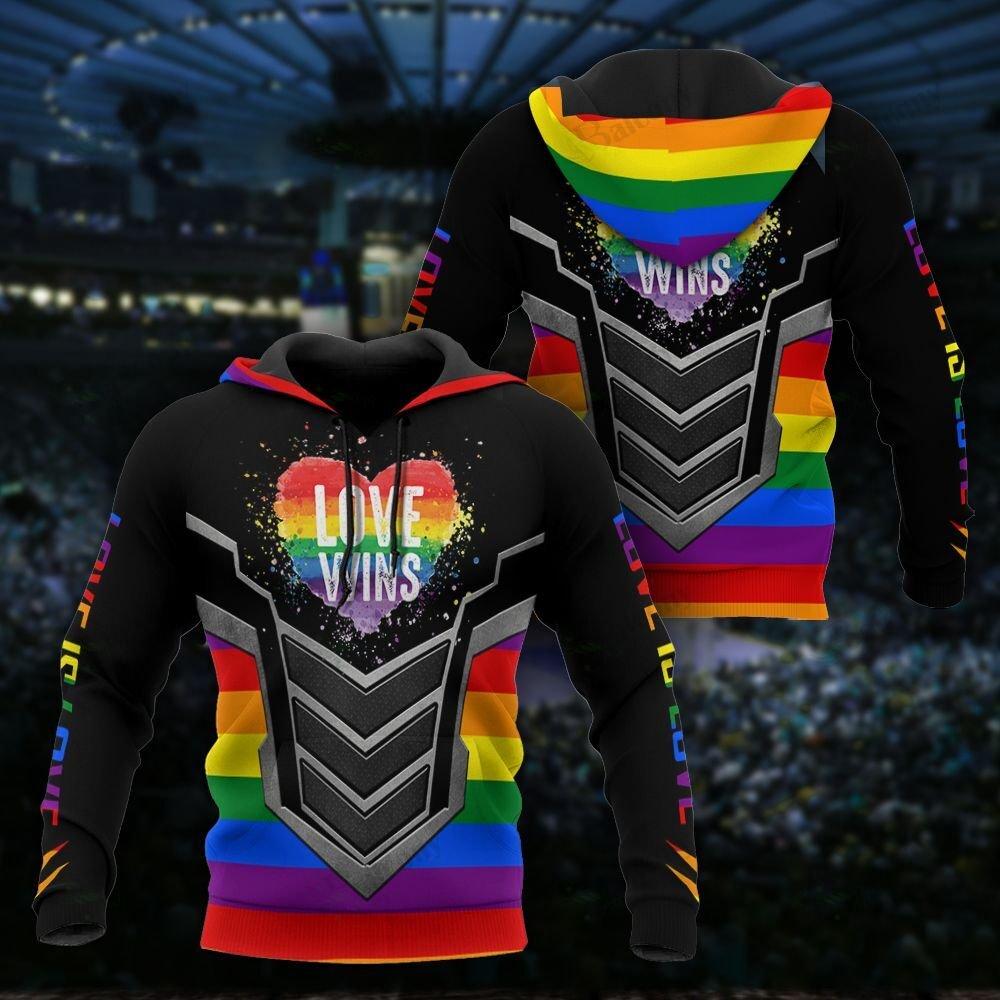LGBT Love Wins 3D Hoodie