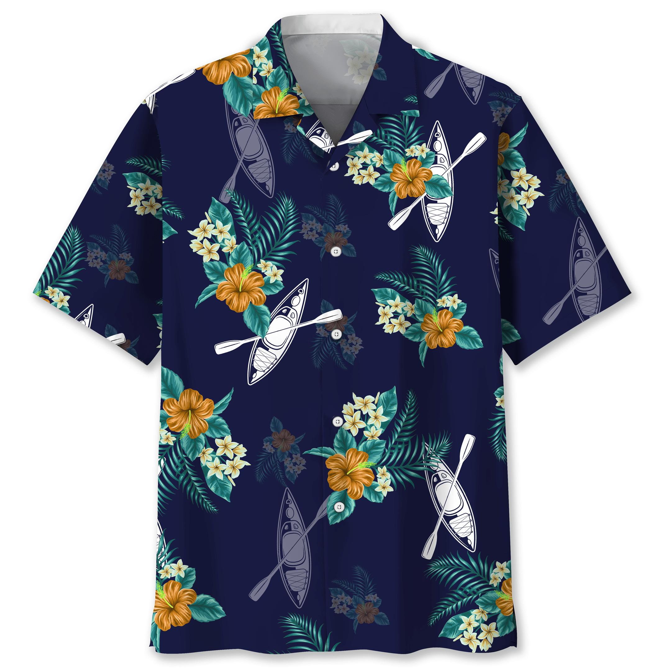 Kayaking blue Hawaiian Tropical Shirt