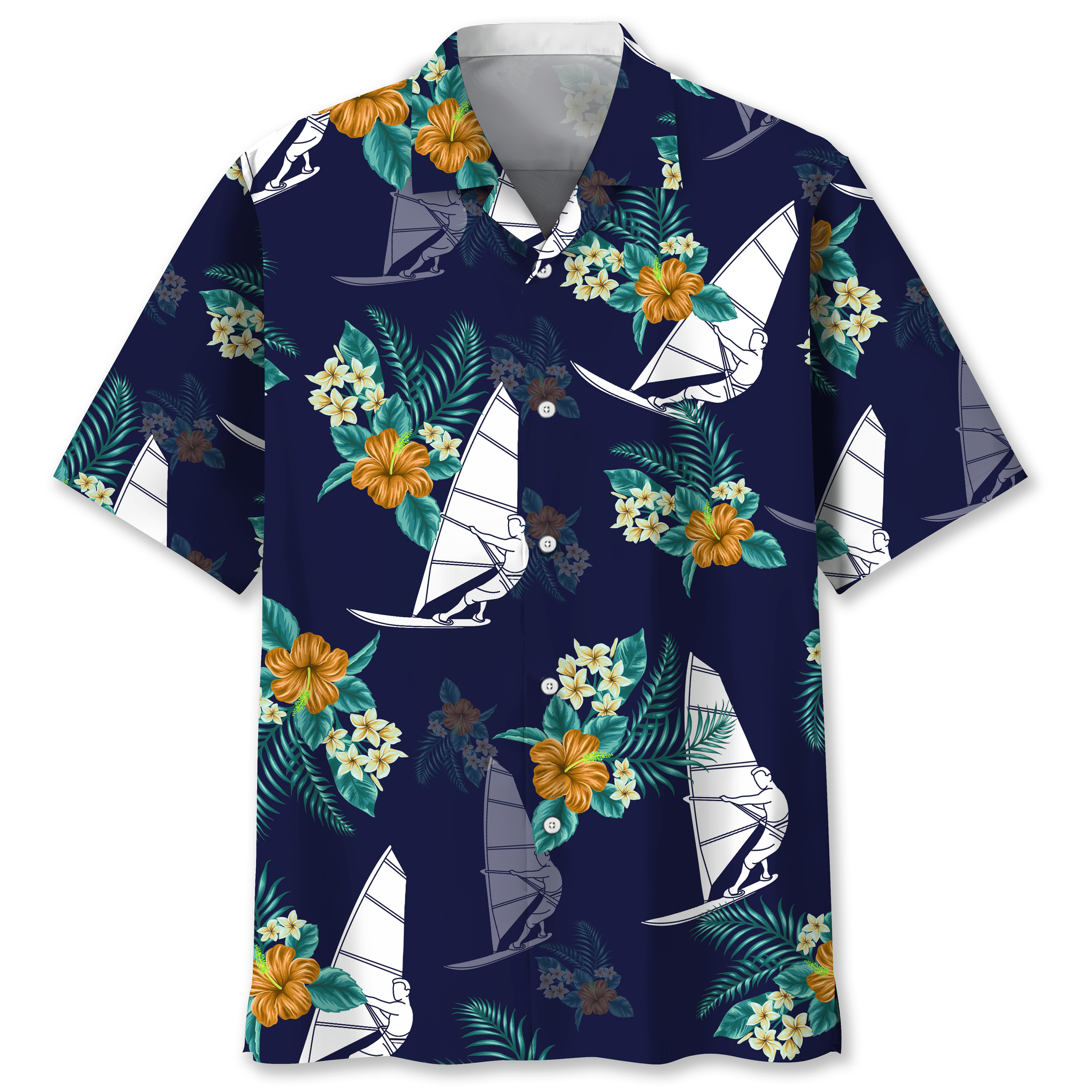 Windsurfing Hawaiian Tropical shirt