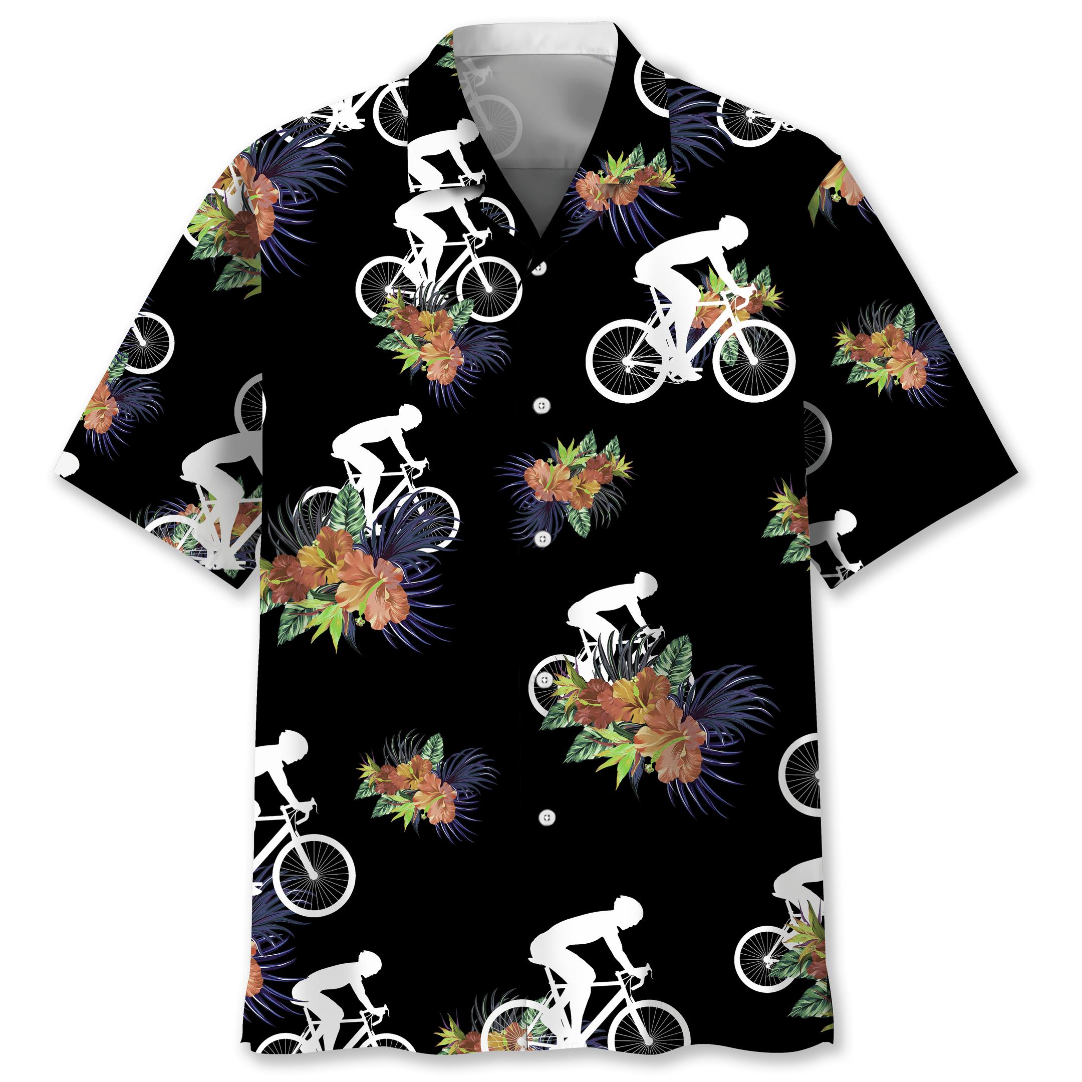 Cycling Hawaiian Nature shirt