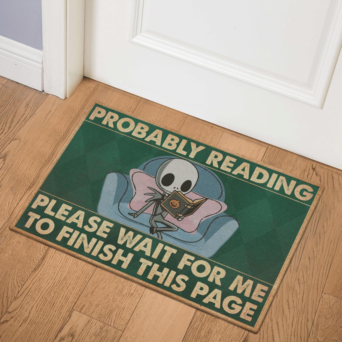 Nightmare Probably Reading book Door Mat