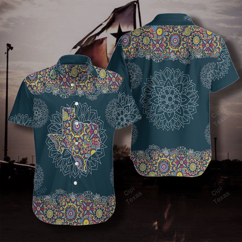 Mandala symbols Texas Map Hawaii Shirt
