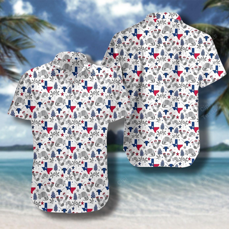 Texas Armadillo Pattern Hawaii Shirt