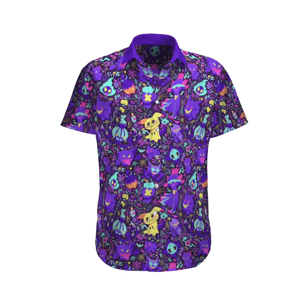 Ghost Pokemon Hawaiian Shirt And Shorts